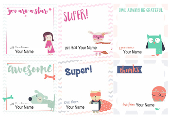 Personlized Encouragment Notes