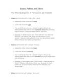 Persuasion: Logos, Pathos, and Ethos Unit Materials All-in