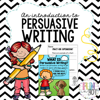 Persuasion Writing for Little Learners!