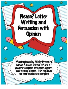 Persuasion Writing in a Letter Format