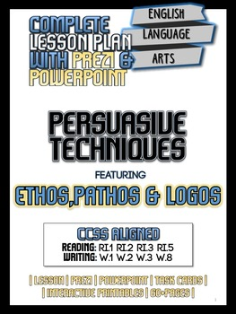 Persuasive Advertising Techniques BUNDLE - Pathos, Logos,