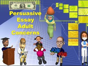 Persuasive Essay Adult Concerns Common Core Standards Aligned
