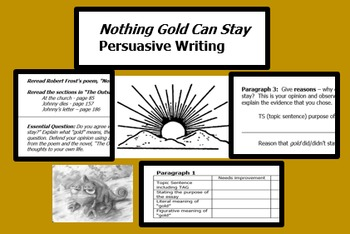 "Persuasive Essay; ""Nothing Gold Can Stay"" ""The Outsiders"""