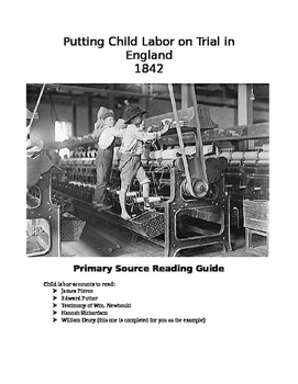 Persuasive Essay: Case For and Against English Child Labor