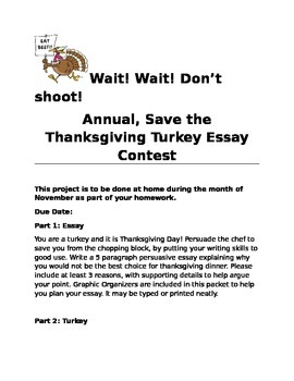 Persuasive Essay: Thanksgiving Turkey Project