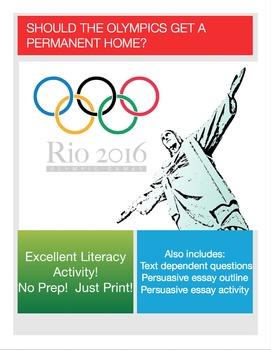 Persuasive Essay:  The Olympics