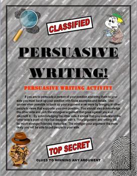 Persuasive Writing:  Writing Skills for Students!  Templat