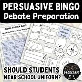 Persuasive Letter Writing - School Uniform - Bingo!