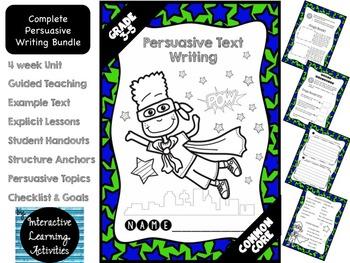 Persuasive Opinion Writing: Fun Super Hero Unit {Common Co