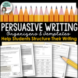 Persuasive Writing - Graphic Organizers, Planning Pages an