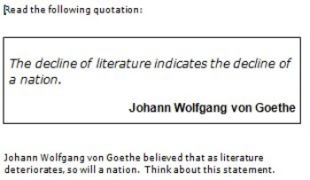 Persuasive Prompt for STAAR English EOC - Influence of Literature