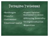 Persuasive Techniques Presentation and resources