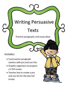 Persuasive Texts: Writing Unit