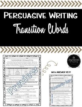 Persuasive Transition Words