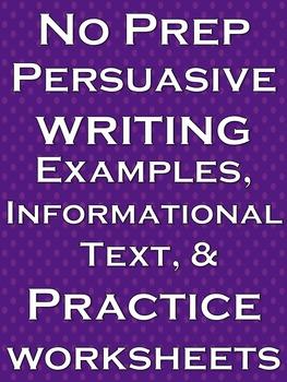 Persuasive Writing Activities Informational Text Reading C