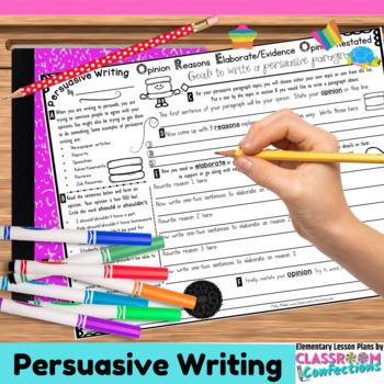Persuasive Writing Activity: Organizer