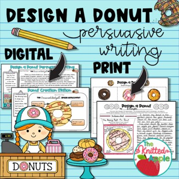 Persuasive Writing {Donut Theme} by The Knitted Apple