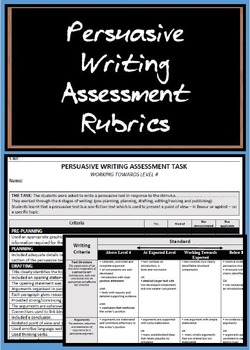 Persuasive Writing Rubrics
