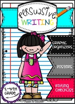 Persuasive Writing Bundle!! (Posters, Graphic Organizers,