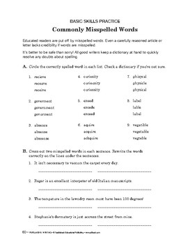 Persuasive Writing: Commonly Misspelled Words/ Final Proje