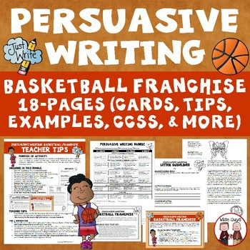 Persuasive Writing: Create Basketball Franchise (Aligned to CCSS)