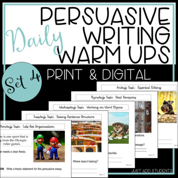 Persuasive Writing: Daily Editing Practice (STAAR) -- Set