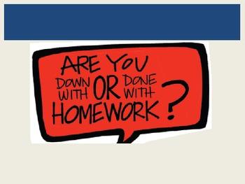 Persuasive Writing- Homework