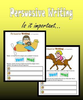 Persuasive Writing:  Is it important…