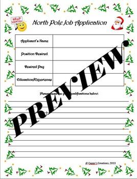 Persuasive Writing - North Pole Job Application (Elf / Rei