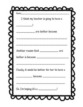 Pregnancy Persuasive Writing/Opinion Writing Before Matern