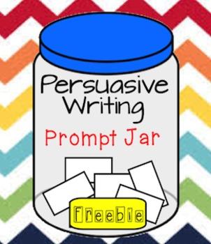 Persuasive Writing Prompt Jar