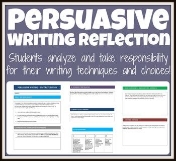 Persuasive Writing Reflection