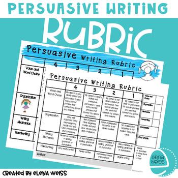 Persuasive Writing Rubric