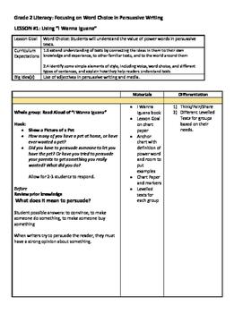 Persuasive Writing Word Choice - Bundle
