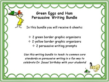 Persuasive Writing with Dr. Seuss' Green Eggs and Ham