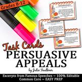 Persuasive, Rhetorical Appeals Speech Excerpts (Ethos Path