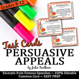 Persuasive, Rhetorical Appeals Speech Excerpts (Ethos Path