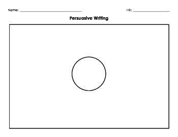 Persuasive Writing Organizer - Entire process for lower an