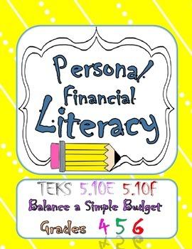 Pesonal Financial Literacy TEKS 5.10E 5.10F Balance a Simp