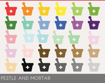 Pestle and Mortar Digital Clipart, Pestle and Mortar Graphics