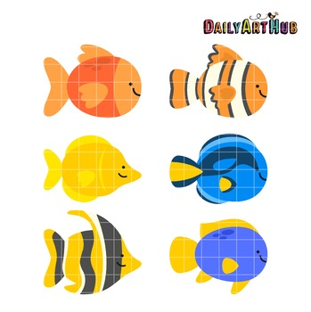 Pet Fishes Clip Art - Great for Art Class Projects!
