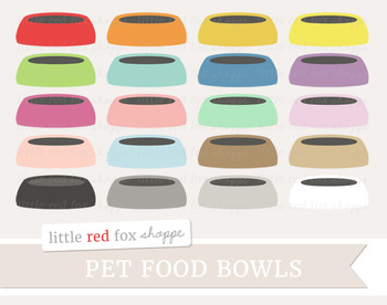 Pet Food Bowl Clipart