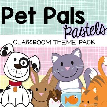 Pets Classroom Theme Decor - Pastel Colors {Editable}