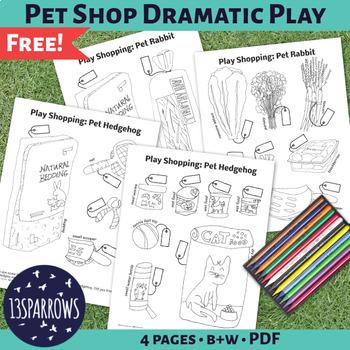 Pet Shop Dramatic Play Supplement