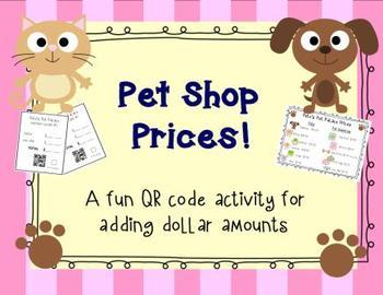Pet Shop Prices! A Money Adding Activity