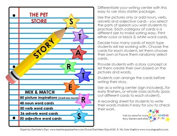 Pet Store Story Starters