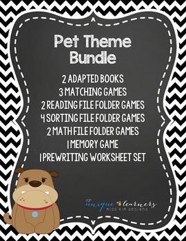Pet Theme Bundle: 15 Pet Themed Products for Children with Autism