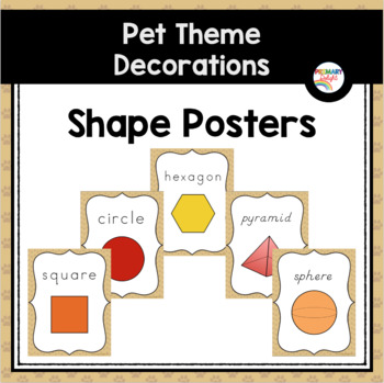 Pet-Themed Shape Posters