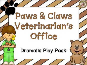 Veterinarian's Office Pet Vet Clinic Dramatic Play Kit and