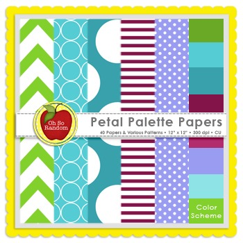 Petal Palette {Papers for Commercial Use}